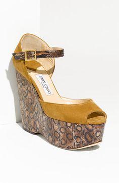 Jimmy Choo Triple Platform Wedge Sandal #Nordstrom