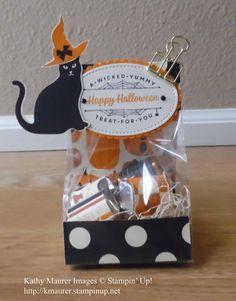 Diy Halloween, Halloween Treat Holders, Halloween Paper Crafts, Halloween Favors, Halloween Goodies, Halloween Candy, Holidays Halloween, Fall Crafts, Halloween 2019