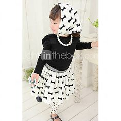 Girl's Bowknot Round Neck Three-Piece Lovely Clothing Sets - USD $ 15.99
