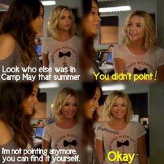I'm not pointing!Pretty Little Liars|Emily and Hanna