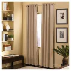 Curtainworks Cameron Curtain Panel - Sand (Brown) (108)