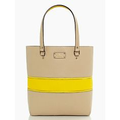 $398 Kate Spade grove court michelle Shoulder 11.41 x 14.56 x 5.11 Yellow part zips up Interior has lots of pockets