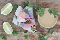 fresh spring rolls with peanut-lime sauce