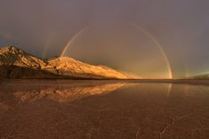 Stormy #sunrise over Death Valley - 28 image panorama shot at Death Valley National Park