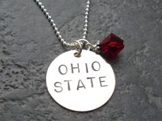 Ohio State OSU Sterling Silver Hand Stamped by TwinklingElegance, $32.00