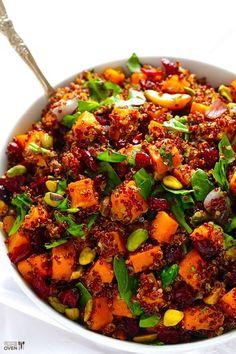 Quinoa 'Stuffing' (Quinoa with Butternut Squash, Cranberries & Pistachios)