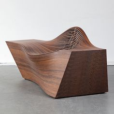 "Bae Sehwa, South Korea, 2011  ""Steam 14"" lounge chair in walnut. Number 4 from an edition of 6 plus 2 artist proofs."