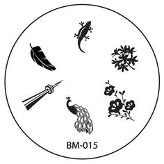 Series 1 REVISION Nail Plate BM015 - Peacock Gecko + Space Needle