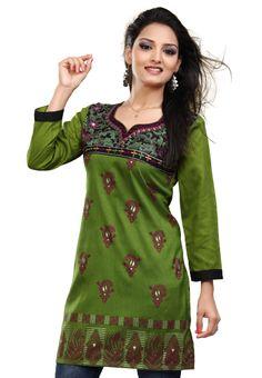 #Fancy Green #Kurti