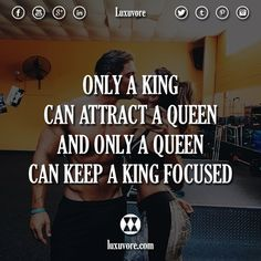 Only a king can attract a queen and only a queen can keep a king focused. or ? >> @nowplayingmusik for more!