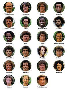 Elenco da Seleção Brasileira na Copa do Mundo de 1982   Brazilian National Team - All Matches