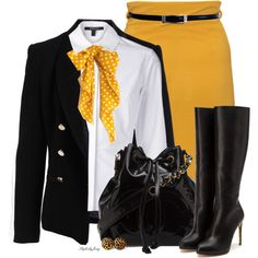 """(SABA) """"Top it Off with a Little Mustard"""" by stylesbyjoey on Polyvore"""
