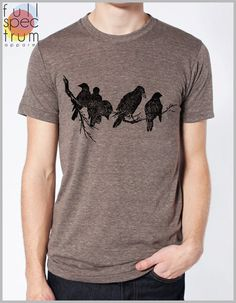 Birds on a Limb T shirt Mens Womens Unisex by FullSpectrumApparel, $22.00