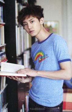 Pretty boy + a book = my love 4ever