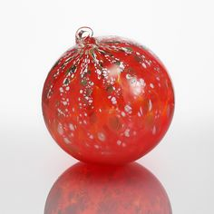 Poinsettia by Mark Rosenbaum: Art Glass Ornament available at www.artfulhome.com