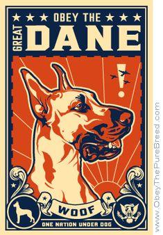 Propaganda for Great Dane World Domination