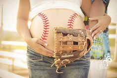 Outdoor-Baseball-Maternity Photography-Photoshop... I love the way this picture turned out-by Rosanna Castillo