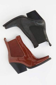 c4074705389fc Jeffrey Campbell Surrey Chelsea Boot - Free People - Black or brown booties