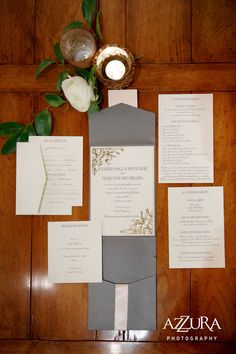 Elegant Charcoal, Blush and Gold Foil wedding invitations for a ...
