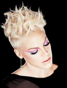 Look of the Week:  P!nk for Covergirl Flamed Out Water Resistant Mascara