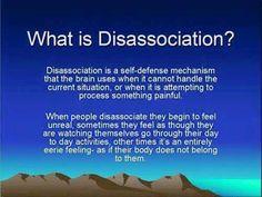 Disassociation expla
