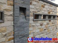 Cara Memasang Batu Alam Yang Baik Dan Benar Dari Awal Sampai Akhir Outdoor Walls, Backyard Landscaping, Exterior Design, Landscape, Stone, Wallpaper, Awesome, Modern, Home Decor