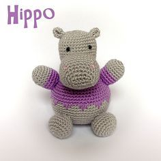 Hippo. I left off the fancy edge (couldn't figure it out). The nose beginning is unclear -  I think it's supposed to be an oval, rather than a circle. Nose is also overall too big, at least when I made it.