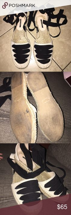 ZARA LACE-UP ESPADRILLES 37 (7) SANDALS Just worn once LACE-UP ESPADRILLES ZARA in size 37 (7) no returns thanks for looking. Zara Shoes Sandals