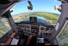 Cockpit of Cessna 152 Aerobat