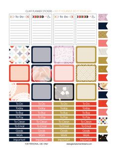 Be Bold – Monthly Set for Happy Planner  Description: The sheets of this printable planner stickers size is 8.5″ x 11″ inches 2 ZIP file containing 8 JPG file, 1 PDF file & 8 Silhouette cut file. (300