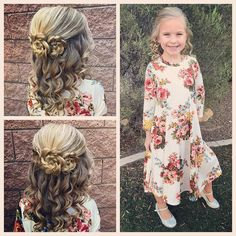Our first post of the year, we are back from our amazing break and ready to start back up! Today we did a half up style with curls and a few braided flowers! And do you love this dress from @brooklynblushclothing ??? We do!!! And we will be hosting a giveaway soon! So keep an eye out for that! #tinzbobenz #toddlerhair #toddlerhairstyles #readyforchurch #princesshair #lds #hairideas #hairinspo #hairstyle #hairstyles #hairforkids #hairforgirls #braidart #braidedflower #braidideas #braidst...