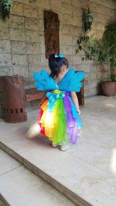 LecksTalkAboutKids: Halloween Costume: Rainbow Dash inspired dress