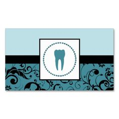 professional dentistry : damask tooth business cards