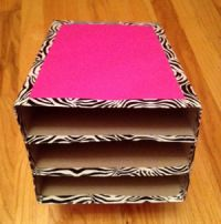 Getting Organized ~ Desk & Paper Sorter from old cereal boxes