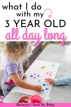 Daily Routine for a 3 Year Old