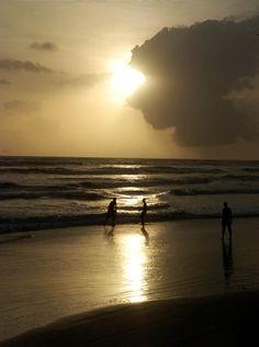 Sunset in Muzhappilangad Driving beach at Kannur, #Kerala