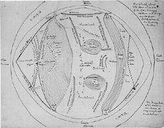 La carte d'Arda dessinée par tolkien