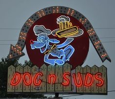 Dog n Suds: Elyria, OH and all over Indiana! Pub Signs, Shop Signs, Sign O' The Times, Neon Sign Art, Neon Jungle, Vintage Neon Signs, New West, Antique Signs, Neon Light Signs
