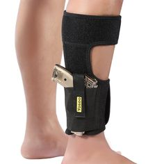 Ankle Holster Adjustable Neoprene Elastic Wrap Concealed Ankle Carry Gun Holster with Magazine Pocket for Small Frame Pistol Handgun by Yosoo, Fits Men Women, Black Glock 42, Concealed Carry Men, Conceal Carry, Ruger Lcp, M&p Shield, Military Guns, Gun Holster, Hunting Rifles, Airsoft Guns