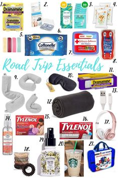 Road Trip Must Haves - Road Trip Essentials For Your FamilyYou can find Road trip essentials and more on our website.Road Trip Must Haves - Road Trip Essentials For Your Family Travel Bag Essentials, Road Trip Essentials, Airplane Essentials, Arizona Road Trip, Road Trip With Kids, Family Road Trips, Snacks Road Trip, Road Trip Activities, Road Trip Games