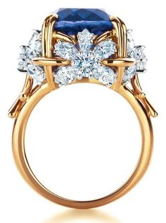 Tiffany & Co. Schlumberger Flower ring with tanzanite and diamonds