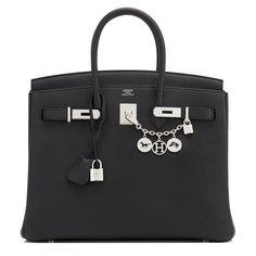 Hermes Birkin Bag 35cm Black Togo Palladium Hardware Image 1