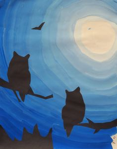 Mr. O's Art Room: 2nd Grade Tint Silhouettes