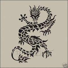 Gorgeous airbrush  tattoo stencils - Reusable  - Dragon 4 (Medium size)