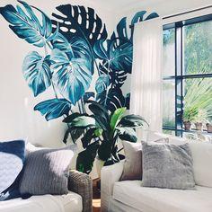 Floor Murals, Mural Wall Art, Beach Wall Murals, Bedroom Murals, Wall Drawing, Quirky Home Decor, Aesthetic Room Decor, Room Wallpaper, Wall Decor