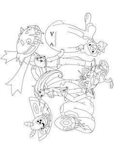 Pokemon X And Y Mega Coloring Pages