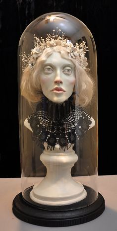 Ooak sculpture bust That's the Idea van DalvaArt op Etsy