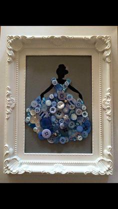 Princess Button Art
