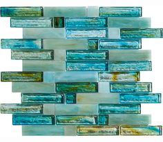  Marazzi USA's CAICOS mosaics, with dynamic colors swirled into molten glass, are available in six stunning colorways. #mosaic #pattern
