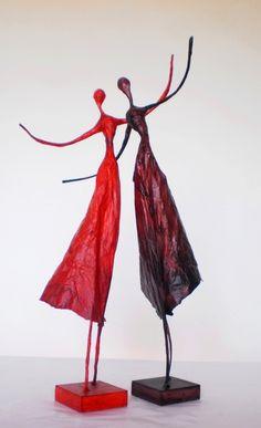 Polleritas de papel - Esculturas - Arte - 425